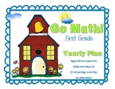 Go Math! First Grade Yearly Plan aligned with the Common Core. Editable!!