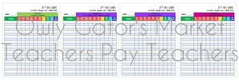 Go Math Florida Chapter Test Tracking Chart Bundle - 3rd Grade Chapters 1-12