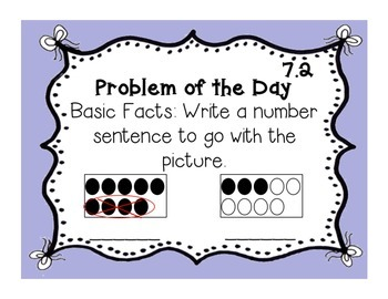 GoMath!(1st grade)FLA Common Core Chapter 7 Journal Prompts & Problem of the day