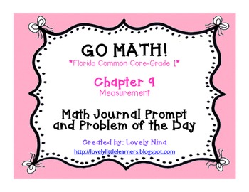 GoMath!(1st grade)FLA Common Core Chapter 9 Journal Prompts & Problem of the day