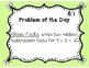 GoMath!(1st grade)FLA Common Core Chapter 8 Journal Prompts & Problem of the day