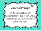 GoMath!(1st grade)FLA Common Core Chapter 8 Journal Prompt