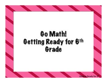 Go Math! Florida Grade 5 Essential Questions Getting Ready for 6th Grade