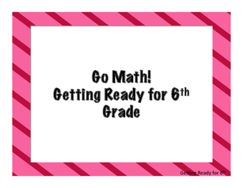 Go Math! Florida Grade 5 Essential Questions Getting Ready for 6th Grade