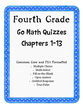 Go Math Florida Standards & Common Core Format