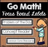 Go Math! Focus Board Labels Blackline