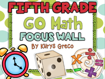 Go Math Focus Wall - Fifth Grade {Entire Year} {Common Core} {EDITABLE}