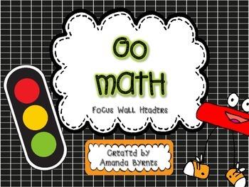 Go Math Focus Wall Headers FREEBIE