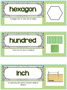 Go Math Focus Wall - Second Grade {Entire Year} {Common Core} {EDITABLE}
