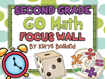 Go Math Focus Wall - Second Grade {Entire Year} {Common Co