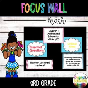 Go Math Focus Wall 3rd Grade Entire Year By Crayonsandsunshine