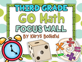 Go Math Focus Wall - Third Grade {Entire Year} {Common Core} {EDITABLE}