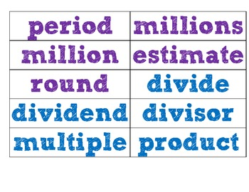 Go Math Fourth Grade Vocabulary