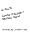 Go Math Grade 1 Chapter 1 Review Sheet