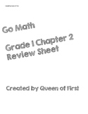 Go Math Grade 1 Chapter 2 Review Sheet