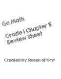 Go Math Grade 1 Chapter 5 Review Sheet