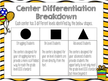 Grade 1 Chapter 6 Centers (CCSS Aligned Differentiated Centers)