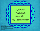 Go Math - Grade 1 Data Sheet