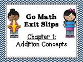 Go Math Grade 1 Exit Slips-Chapter 1