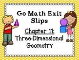 Go Math Grade 1 Exit Slips-Chapter 11