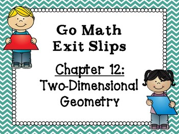 Go Math Grade 1 Exit Slips-Chapter 12