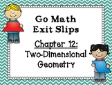 Go Math Grade 1 Exit Slips-Chapter 12