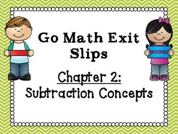 Go Math Grade 1 Exit Slips-Chapter 2