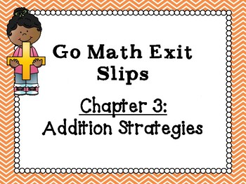 Go Math Grade 1 Exit Slips-Chapter 3