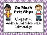 Go Math Grade 1 Exit Slips-Chapter 5