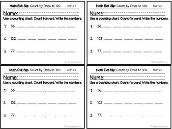 Go Math Grade 1 Exit Slips-Chapter 6