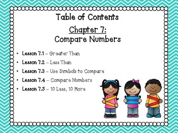 Go Math Grade 1 Exit Slips-Chapter 7