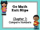 Go Math Grade 1 Exit Slips-Chapter 7
