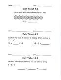 Go Math, Grade 1, Unit 4 Exit Tickets