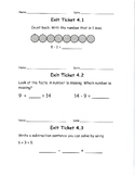 Go Math, Grade 1, Unit 4 Exit Tickets