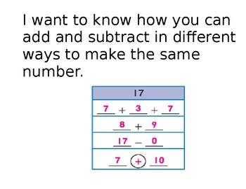 Go Math, Grade 1, Unit 5 Goals