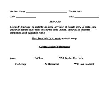 Go Math! Grade 2 Bulletin Board Task Card for February Portfolio Piece