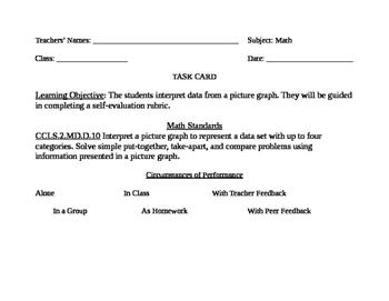 Go Math! Grade 2 Bulletin Board Task Card for May Portfolio Piece