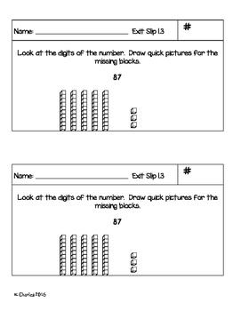 Go Math Grade 2 -- Ch. 1 Exit Slips