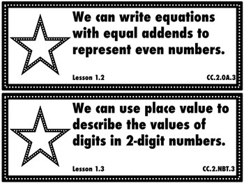 Go Math Grade 2 Chapter 1: Number Concepts Unit Goals Display