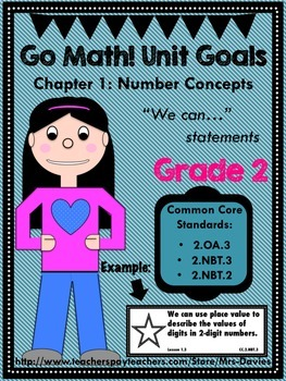 Go Math Grade 2 Chapter 1: Number Concepts Unit Goals Display