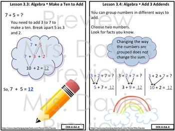 Go Math! Grade 2 Chapter 3: Basic Facts and Relationships Strategies