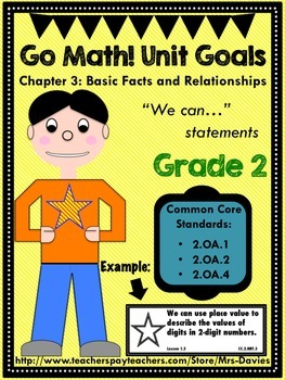 Go Math Grade 2 Chapter 3: Basic Facts and Relationships U