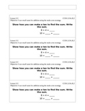 Go Math Grade 2 (Chapter 3) Journal Prompts/Exit Slips