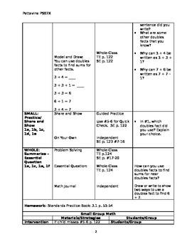 Go Math: Grade 2 Chapter 3 Lesson Plans