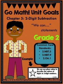 Go Math Grade 2 Chapter 5: 2-Digit Subtraction Chapter Goals Display