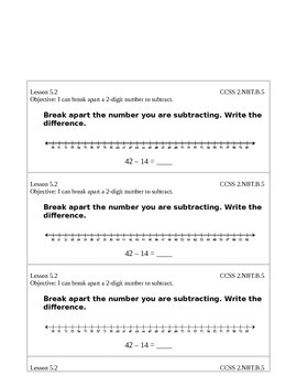 Go Math Grade 2 (Chapter 5) Journal Prompts/Exit Slips