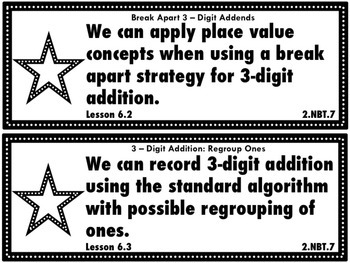 Go Math Grade 2 Chapter 6:3-Digit Addition and Subtraction Chapter Goals Display