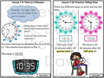 Go Math! Grade 2 Chapter 7: Money and Time Reference Book