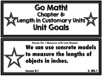 Go Math Grade 2 Chapter 8: Lengths in Customary Units Chapter Goals Display