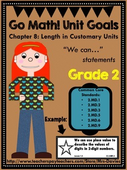 Go Math Grade 2 Chapter 8: Lengths in Customary Units Chap